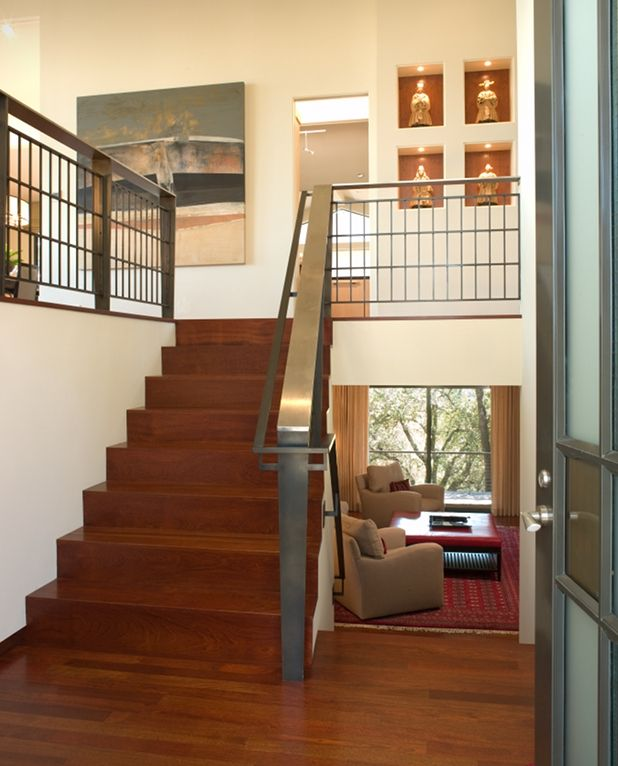 74 best home decor split level stairs landing images on for Split foyer remodel