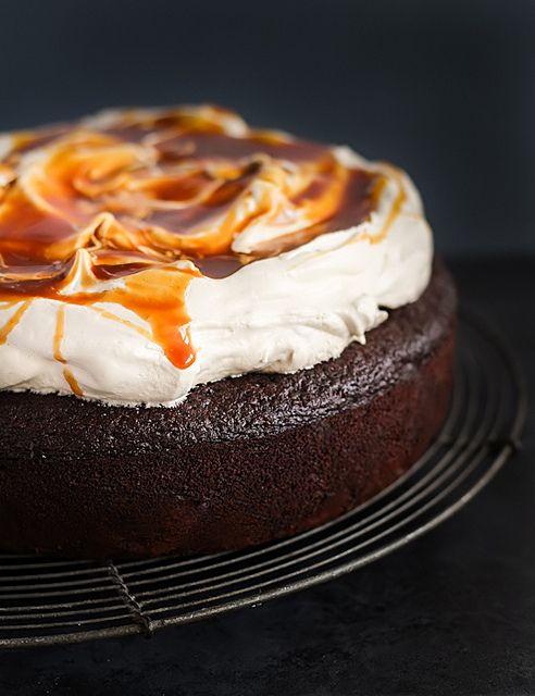 Chocolate Buttermilk Cake  Buttercream  Salted Caramel