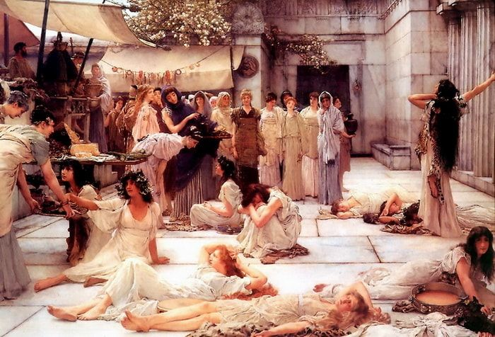 Women of Amfiss Lawrence Alma Tadema