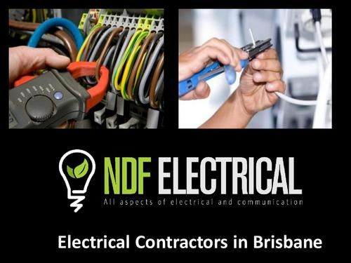 At NDF Electrical we provide best Electrical contractors in Brisbane area. And we will reach you in time and carry out the desired tasks in the best possible manner. For More Details Visit us : http://www.ndfelectrical.com.au/