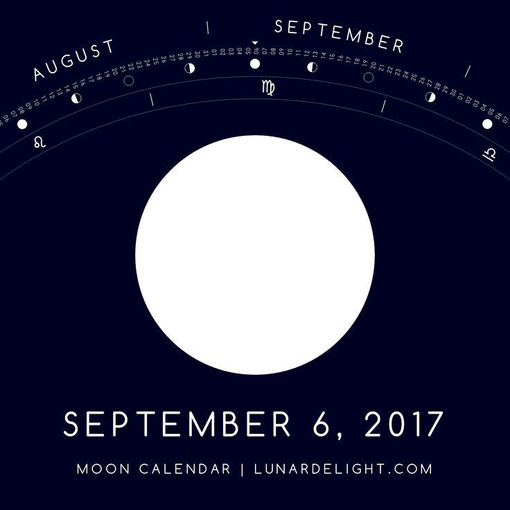 Wednesday, September 6 @ 07:04 GMT  Full Moon  Next New Moon: Wednesday, September 20 @ 05:30 GMT Next Full Moon: Thursday, October 5 @ 18:41 GMT