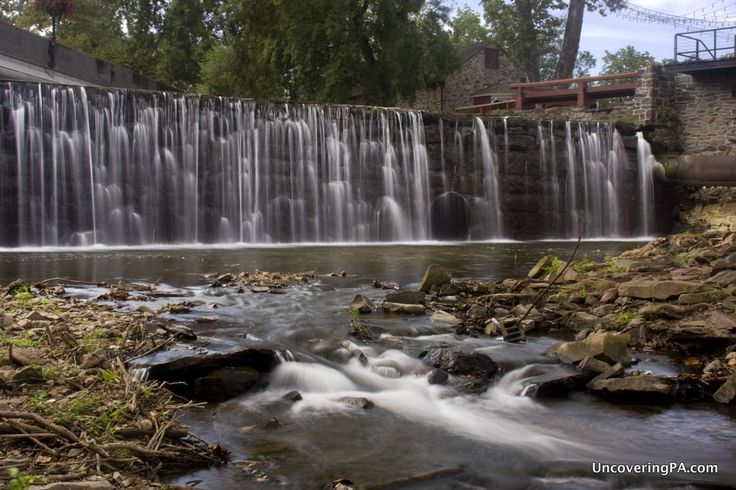 Pennsylvania Waterfalls: The Aquetong Creek Dam Waterfall in New Hope