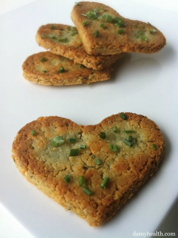 Cheese & Chive Crackers - This recipe is gluten free, grain free, low carb, clean, savory, perfect for scooping dips or dipped in your favorite soup.