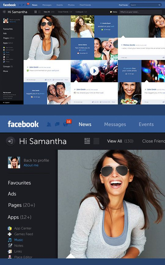 6 Must See Facebook Redesign Concepts