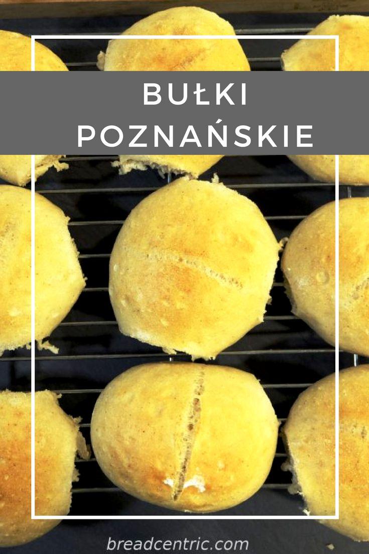 """Poznanskie rolls.  Bułki poznańskie.  Przepis pochodzi z książki Piotra Kucharskiego """"Chleb. Domowa piekarnia"""""""