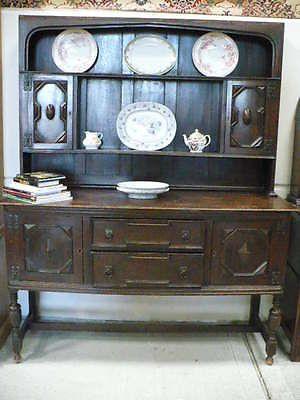 Antique-Arts-Crafts-Oak-Dresser-L5-880A