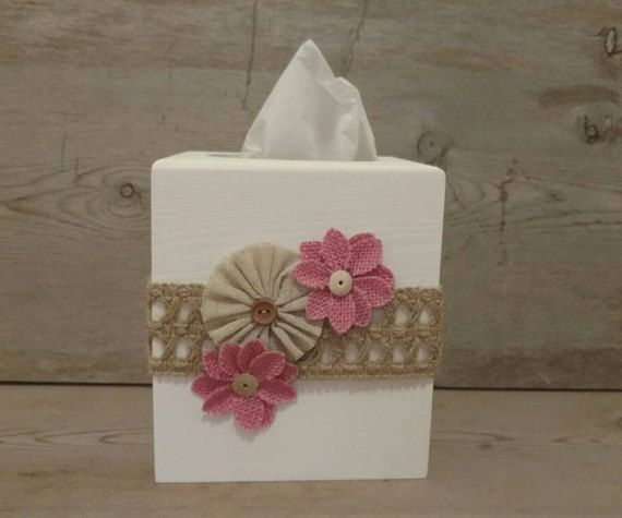 Rustic Tissue Box Cover, Wood Tissue Box Cover, Wooden, Tissue Box Cover, Tissue…