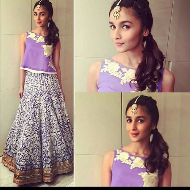 #cool #young #trendy #indian #wear #amazing #aaliabhatt #lehanga #kashmir #thread work short crop top #thread #rose #indian #craft #embrodiery