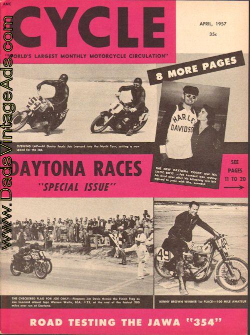 1952 Cycle Magazine Special Issue – Daytona Races