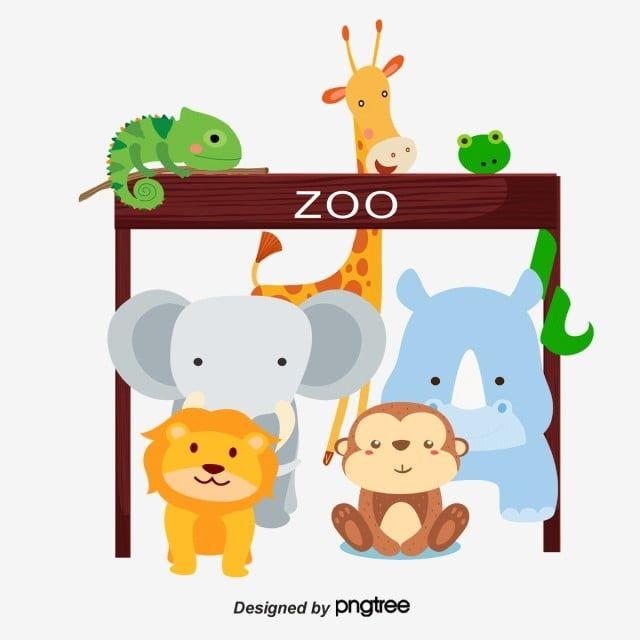 حديقة الحيوان قصاصات فنية حيوان كرتون Png وملف Psd للتحميل مجانا Zoo Character Art