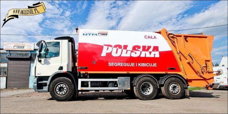 "NTM KGHH 20m3 DAF śmieciarka ""Cała Polska segreguje i kibicuje"", refuse truck, rear loader, garbage vehicles, Kommunalfahrzeuge, Benne a ordures, Recolectores, piccoli camion, Carico posteriore"