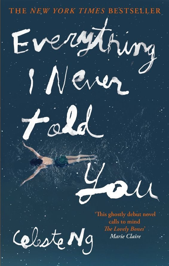 The UK paperback cover for Everything I Never Told You (from Blackfriars)