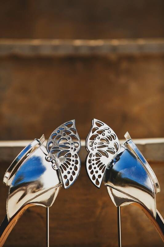 """Wedding shoes """"fly away"""" before the ceremony by sophia webster"""