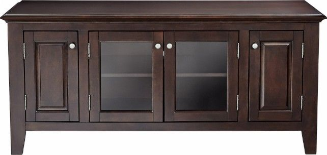 """Insignia™ - TV Stand for Most TVs up to 60"""" - Espresso - Front Zoom"""