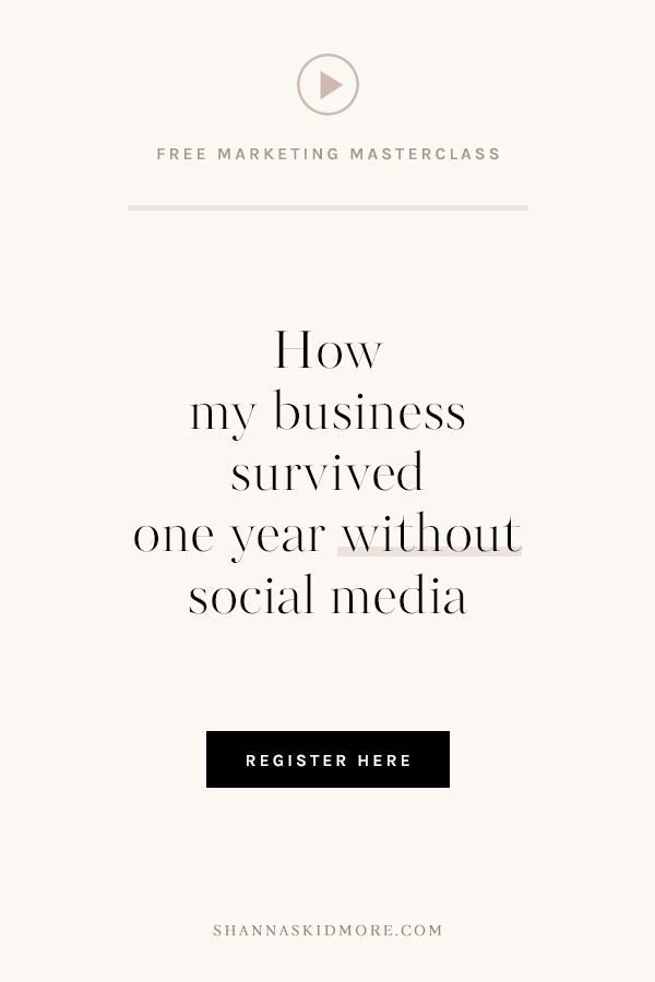 How My Business Survived One Year Without Social Media Curious About Away From What I Learned Tips For Photographers In