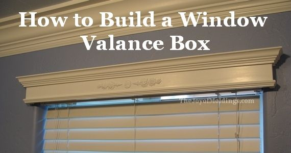 wood trim around large windows | Each of my designs gets its own pattern number. This is VALANCE BOX ...