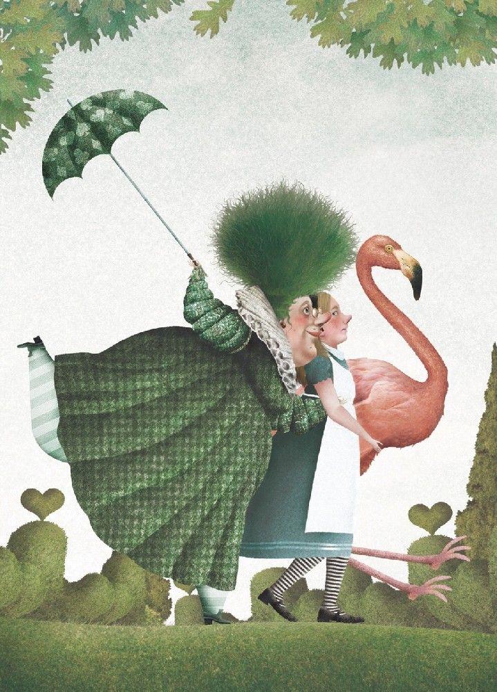 """Иллюстратор Iban Barrenetxea.Автор Lewis Carroll.Сказка """"Алиса в стране чудес"""".Страна Испания.Год издания 2011.Издательство Anaya.................................Источник иллюстраций: Iban Barrenetxea..."""