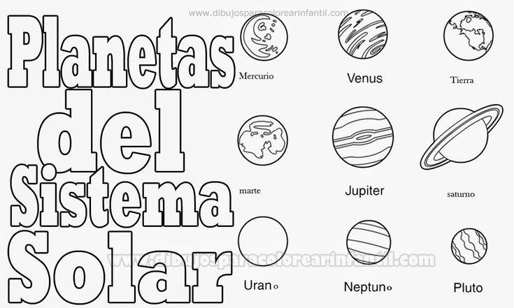 Dibujos Para Colorear Del Sistema Solar: Dibujos Para Colorear Infantil: Planetas Para Colorear