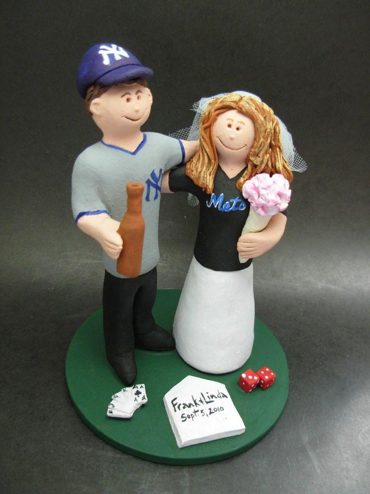 Yankees Groom Marries Mets Bride Wedding Cake Topper www.magicmud.com 1 800 231 9814 magicmud@magicmud... blog.magicmud.com twitter.com/... $235 #wedding #cake #toppers #custom #personalized #Groom #bride #anniversary #birthday #weddingcaketoppers #cake-toppers #baseballwedding #figurine #gift #wedding-cake-toppers #MLB #baseball #nyyankees #nymets