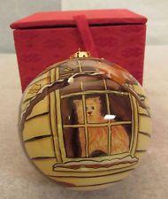 Figi Inside Art Cat in Window Christmas Ornament w/Box Very Nice