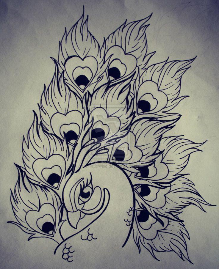 Peacock design by KatieWise.deviantart.com on @deviantART