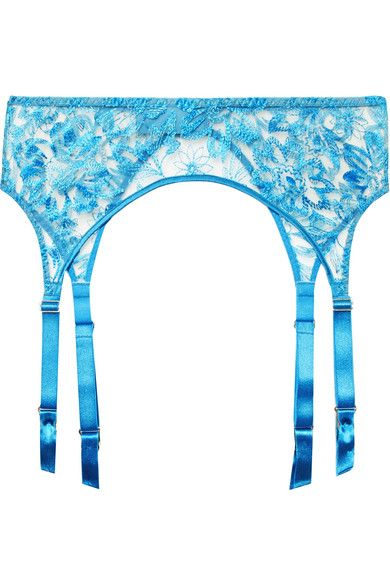 f22e3d78882ed Myla | Columbia Road embroidered tulle suspender belt | NET-A-PORTER.COM