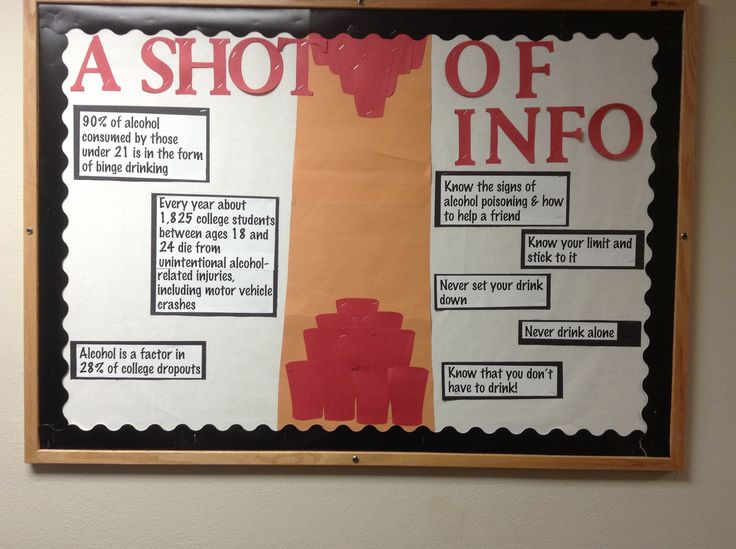 """A Shot of Info"" Bulletin Board, Quad October 2013"