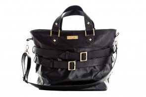 The Baker - Black Leather Tote, perfect for any season!