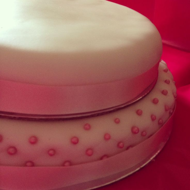 Vegan and Pretty in pink  Chocolate mud cake covered in house made pink fondant, pink ribbon and quilted pink cashous for a beautiful girl on her 21st birthday