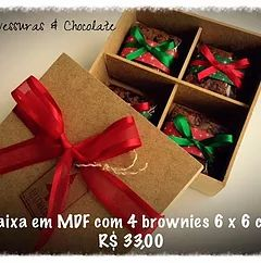 Caixa MDF brownie natal corporativo
