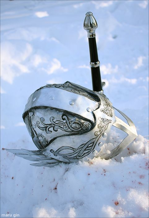 The sword, and the snow, and the helmet...another tale waiting to be penned.