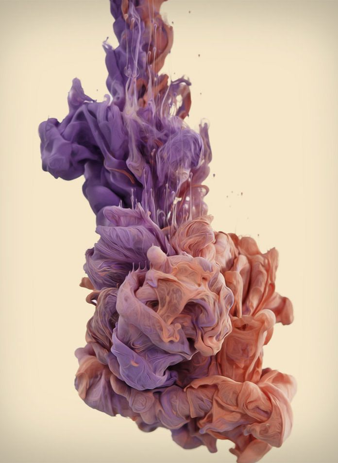 High speed photographs of ink mixing with water (by Alberto Seveso)