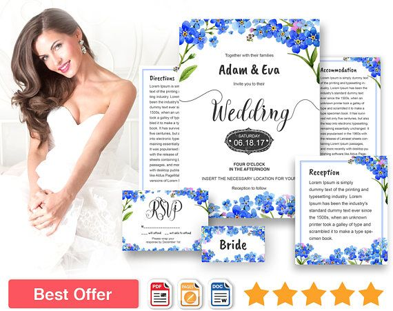 Forget Me Not Wedding Invitations: 17 Best Ideas About Diy Wedding Invitations Templates On
