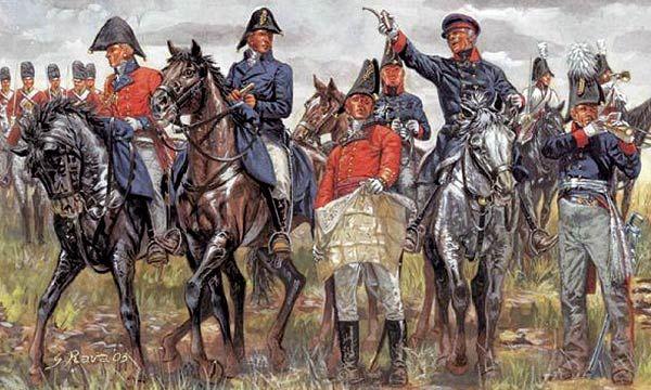 photo ITALERI ETAT MAJOR ANGLAIS et PRUSSIEN - Guerres Napoléoniennes