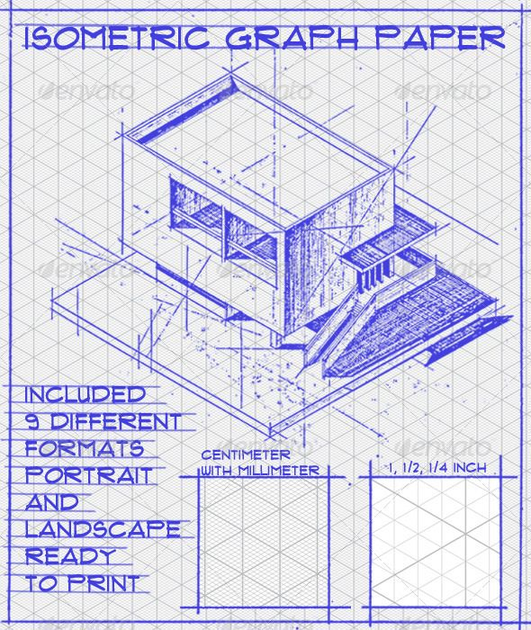 31 best Isometric images on Pinterest - engineering graph paper template