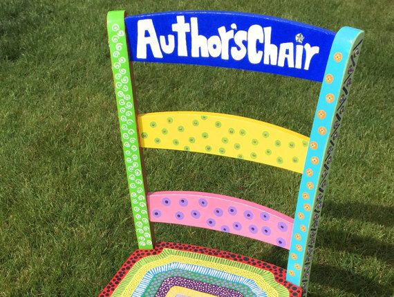 Personalized Teacher Chair ('Author Chair') // Made to Order // Every Chair is Unique