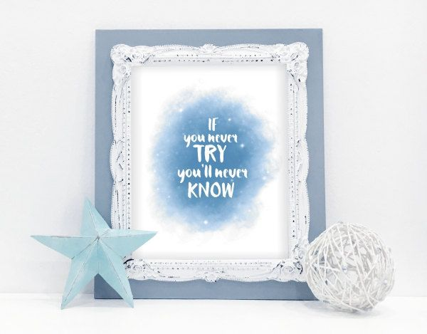 Instant download printable - If you never try by MyCosmicShop on Etsy