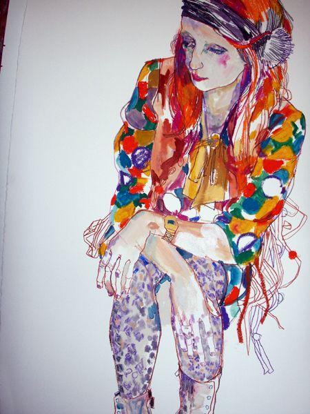 Julie Verhoeven's, fashion illustration