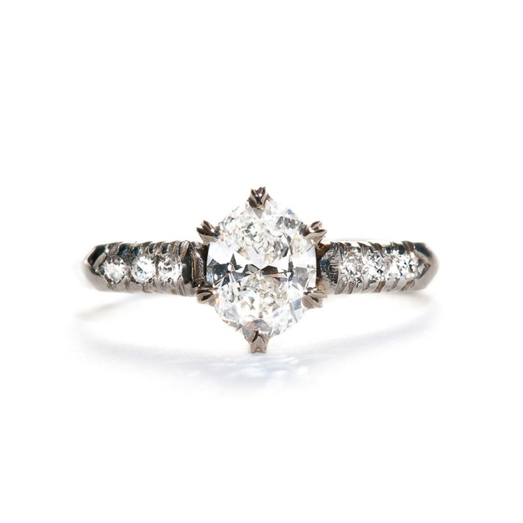 25 best ideas about Vintage oval engagement rings on Pinterest