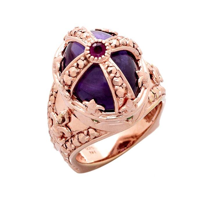 Dallas Prince Abalone Marcasite Ring