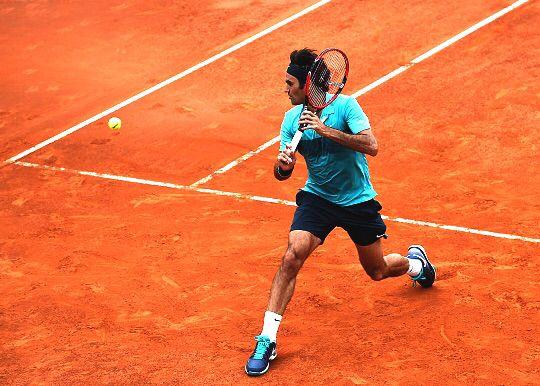 Roger Federer backhand Rome 2015