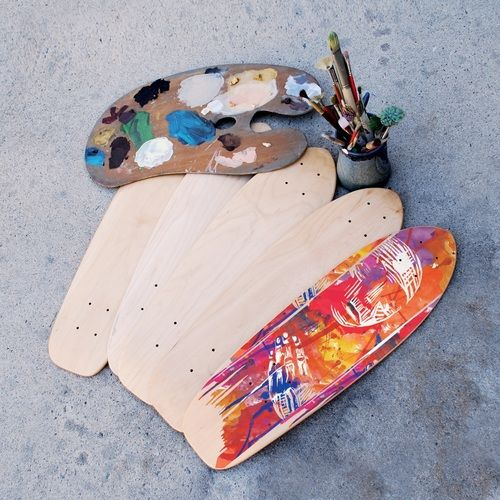 Skateboard Art Bundle | 5 Blank Decks and Deck Displays - StoreYourBoard.com