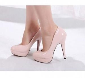 Нежно розовые туфли каблук фото