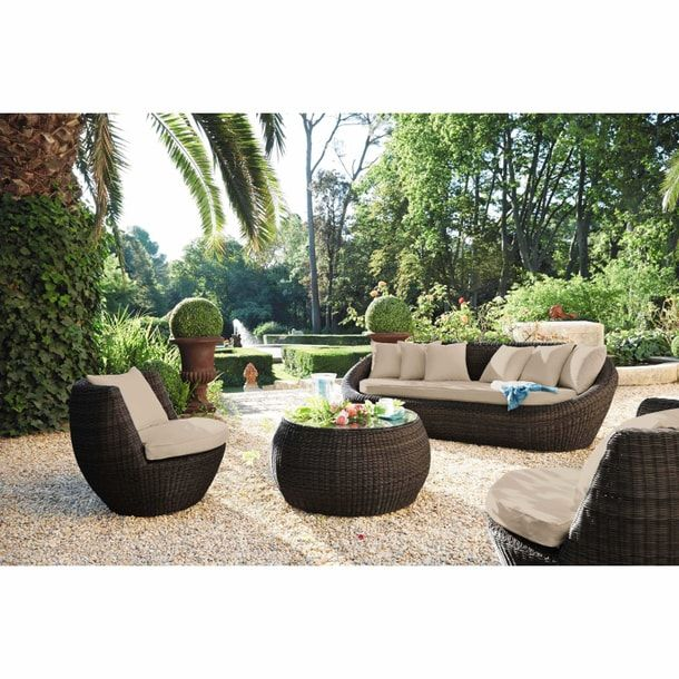 Arbuste Round Topiary Large 20 Garden Sofa White Wicker Furniture House Outside Design