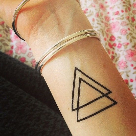 Triangle tattoo I just want one symbolic for trinity father son and holly spirit