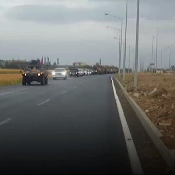 Turkish troops and Iraqi troops moved towards Habur Border Gate in the siren voice