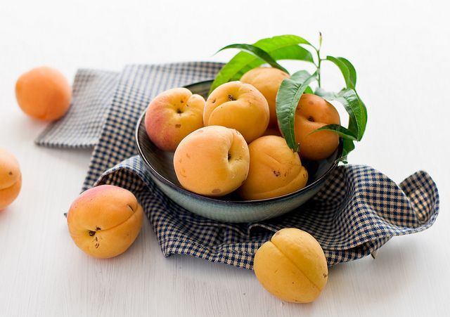 Apricots -- the first summer fruit I've eaten this year. Love...