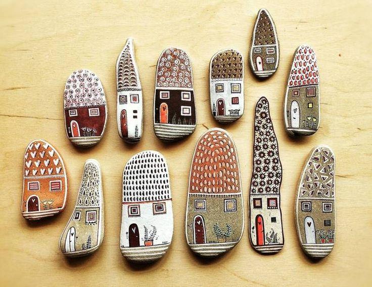 Steine für witzige Häusermotive