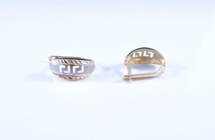 $128 14K Gold Earrings, info@bijuterie-online.ro.