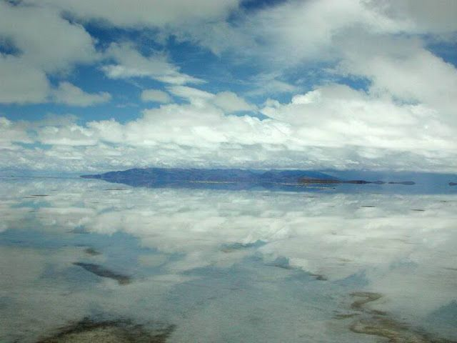 The salar of Uyuni in Bolivia